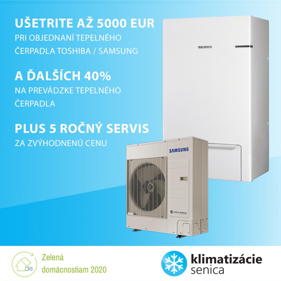 Zľava na tepelné čerpadlá do výšky až 5000 Eur.